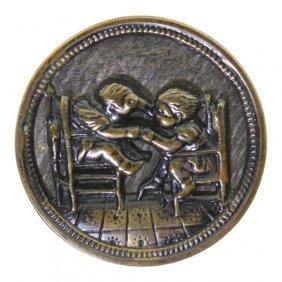 German Tinted Brass Button