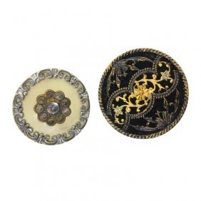 Pair Of Decorative Mixed Medium Buttons