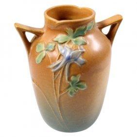 Roseville Pottery Columbine Two Handle Vase