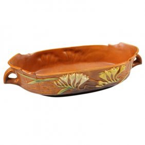 Roseville Pottery Freesia Console Bowl
