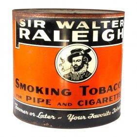Sir Walter Raleigh Large Cigarette Advertisement
