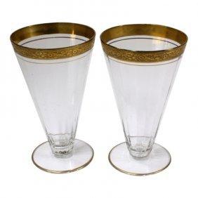 Pair Of Tiffin Minton Cone Glasses