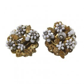 Eugene Vintage Clip On Earrings