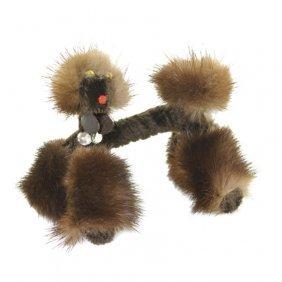 Vintage Fur Poodle Pin