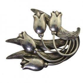 Vintage Hector Aguilar Taxco 940 Silver Brooch