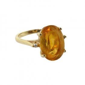 Citrine 14k Gemstone Ring