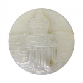 Mother Of Pearl Christ's Tomb Button
