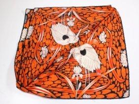 Valentino Silk Stork Scarf