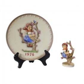 Apple Tree Girl Hummel With 1976 Plate
