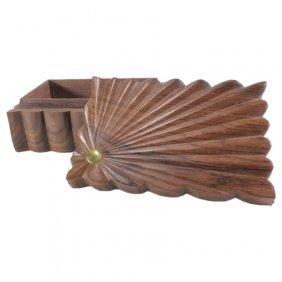 Carved Wooden Trinket Box