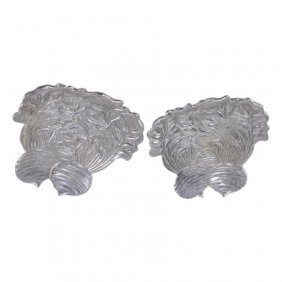 Pair Of Fitz And Floyd Cast Aluminium Dishes