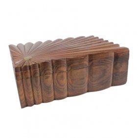 Large Carved Wooden Trinket Box