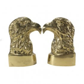 Brass Eaglehead Bookends