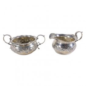 Gorham Sterling Sugar And Creamer Set