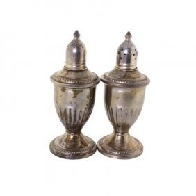 Pair Of Sterling Salt And Pepper Shakers