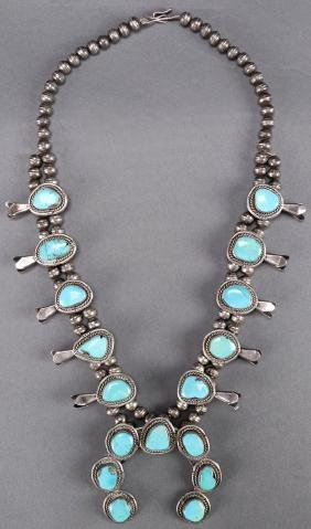 Southwest Native American Squash Blossom Necklace