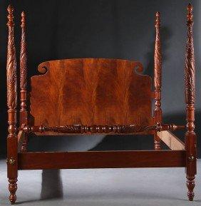 399 Baker Furniture Reproduction Mahogany 4 Post Bed