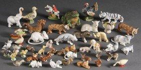 VINTAGE GERMAN PORCELAIN AND BISQUE ANIMALS