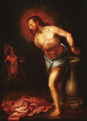 FLEMISH 17TH CENTURY OIL ON PANEL PAINTING