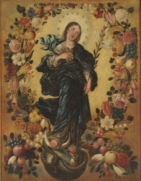 OLD MASTER  OIL PAINTING OFTHE VIRGIN