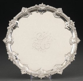 GEORGE III STERLING SILVER SALVER  1763
