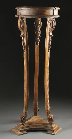 ITALIAN CARVED WOOD  RENAISSANCE STAND, 19TH C.