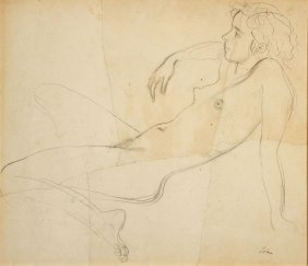 Original A.e. John Female Nude C 1939