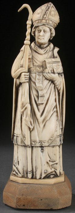 19th Century French Carved Ivory Bishop