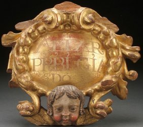 Spanish Colonial Carved Gilt Wood, 18th C