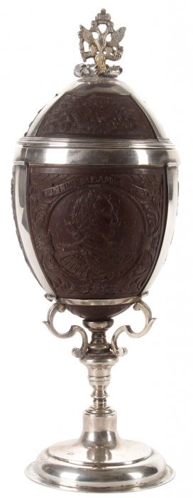 Russian Silver Mounted Coconut Cup, 18th C