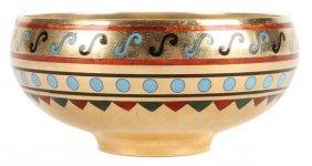 Russian Silver & Enameled Bowl, Ovchinnikov, 1871
