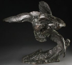 Large French Bronze By Fiot