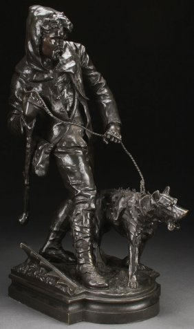 Large French Bronze Signed Carlier