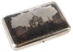 Large Russian Silver Cigar Case, Dated 1859