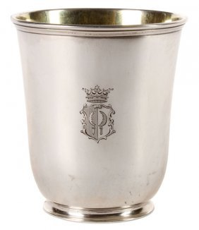 Interesting Russian Silver Presentation Beaker