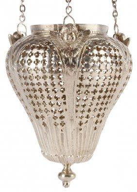 Large Russian Silver Icon Lampada, 1790