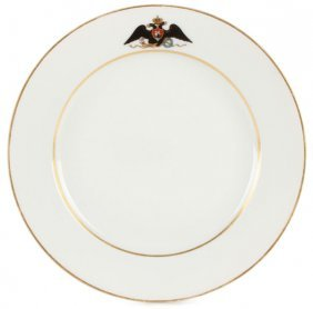 Imperial Russian Porcelain Plate