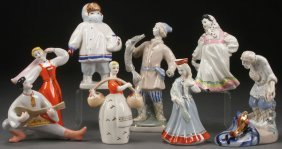 Group Of 4 Russian Soviet Porcelain Figurines