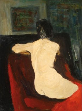 Female Nude By Will Barnet (1911-2012)