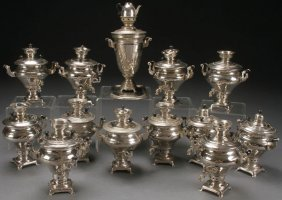 13 Russian Soviet Miniature Samovars