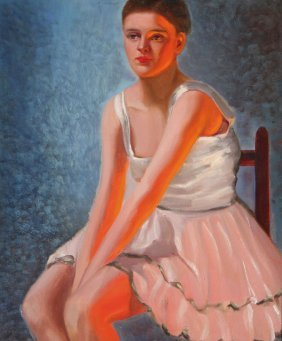Painting Of Ballerina, Signed