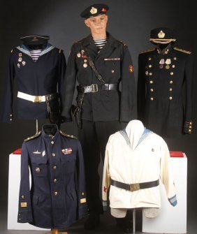 Group Of Russian Soviet Naval Uniforms