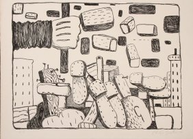 Signed Lithograph By Philip Guston (1913-1980)