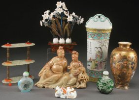 8 Pc Group Of Chinese & Japanese Decorative Arts