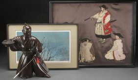 A Three Piece Japanese Decorative Arts Group
