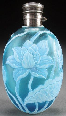 An English Cameo Art Glass Dresser Bottle