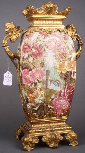 Royal Bonn Hand Painted Tapestry Mantle Vase