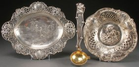 A Pair Of Hanau Style Silver And Sterling Trays