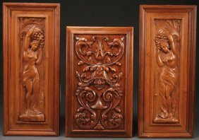 Three Northern Italian Figural Carved Panels