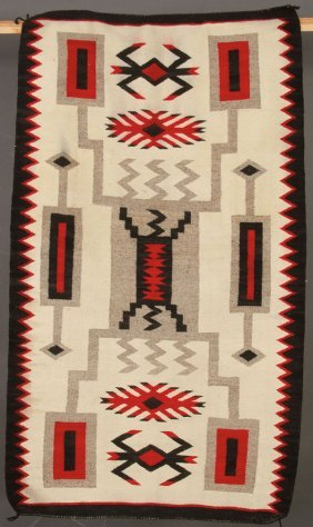 A Pair Of Southwest Native American Hand Woven Rugs